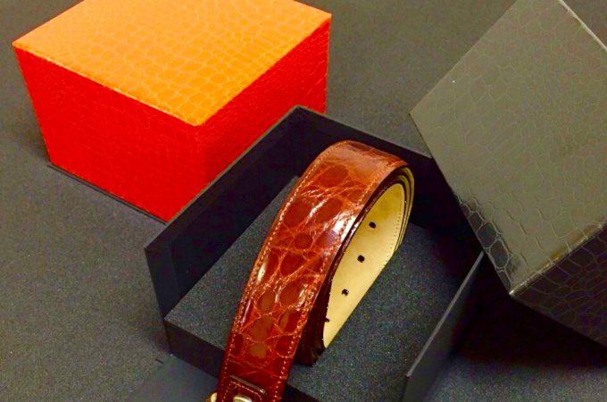 開き貼り箱(高級ベルト入れ)