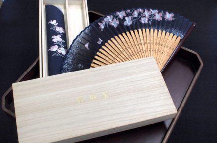 京都の扇子屋「舞扇堂」様の化粧箱